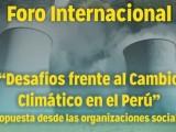 Sociedad civil presentará propuestas para enfrentar el cambio climático en el Congreso