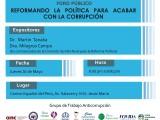 Foro público: Reformando la política para acabar con la corrupción