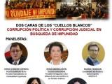 Mañana viernes 24, 11 am. Conversatorio «Los Cuellos blancos, corrupción política y judicial». Participa con tus comentarios