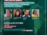 América Latina debate impuesto a los más ricos, ante pandemia de desigualdad (Foro. 15 oct., 5pm. Perú)