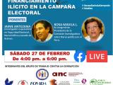 Taller público revisará financiamientos ilícitos en la actual campaña electoral (sábado 27-02, 4 pm.)