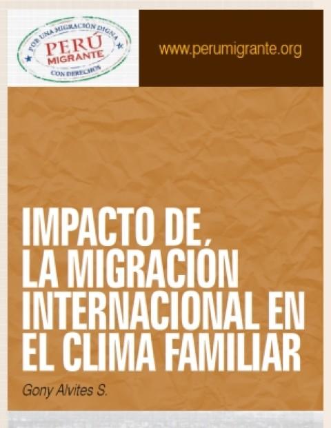 Impacto de la Migración Internacional en el clima familiar