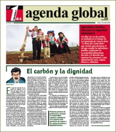 Suplemento Agenda Global: Agricultura familiar, base para la seguridad alimentaria