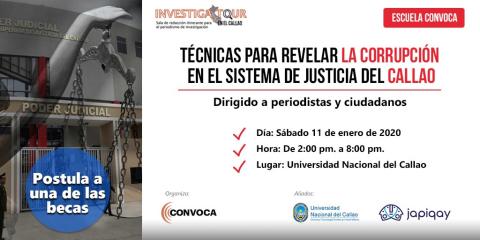 Inscríbete al Taller: Herramientas para detectar casos de corrupción (Postulación a becas gratuitas)
