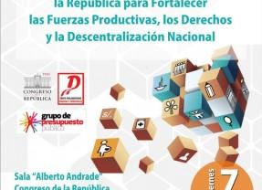 """Foro """"Presupuesto General de la República para Fortalecer las Fuerzas Productivas, los Derechos y la Descentralización Nacional"""""""