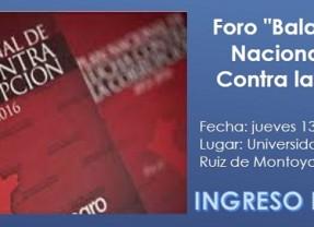 """Foro """"Balance del Plan Nacional de Lucha Contra la Corrupción"""""""