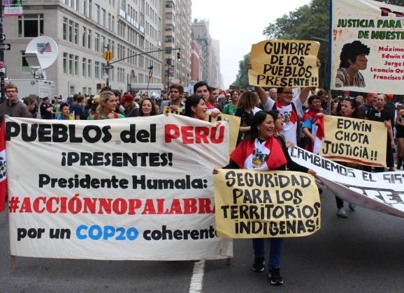 Perú se suma a la movilización mundial que exige justicia climática a la COP21