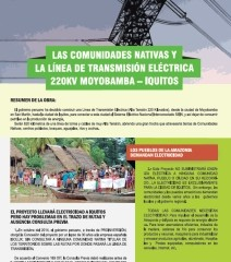 Las comunidades nativas y la línea de transmisión eléctrica 220KV Moyobamba-Iquitos