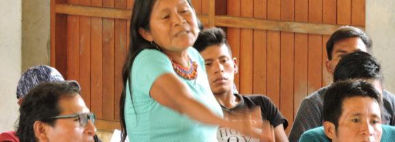 Histórica IX Cumbre de la Nación Wampís, organización y dignidad para el cuidado de la vida. Entrevista a Micaela Guillén (FSP / FOSPA), presente en la jornada.