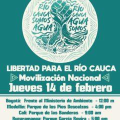 Llaman a movilización nacional para defender vida del Río Cauca. En Colombia, sede del próximo IX Fospa