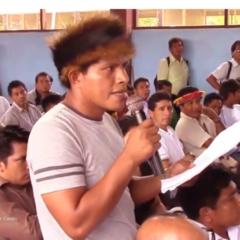 ¿Cómo garantiza el gobierno regional de Amazonas la 'minería cero' en la Cordillera del Cóndor?». Pregunta líder Awajún a gobernador regional Oscar Altamirano (Vídeo)