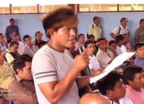 """¿Cómo garantiza el gobierno regional de Amazonas la 'minería cero' en la Cordillera del Cóndor?"""". Pregunta líder Awajún a gobernador regional Oscar Altamirano (Vídeo)"""