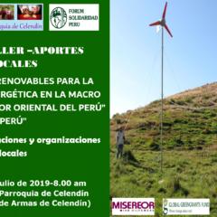 Mañana, sábado 13 de julio, 8 am., movimientos de Celendín debaten transición energética