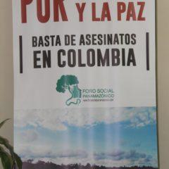 Comité Nacional Perú del Foro Panamazónico pide detener asesinatos de líderes indígenas y campesinos en Colombia