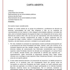Preparan Campaña por la Transparencia, que incluye envío de cartas por la elección de nuevos miembros del Tribunal Constitucional (TC)