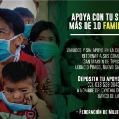 Apoya con tu solidaridad a más de 10 familias Kukamas, varadas y sin apoyo en la ciudad de Iquitos