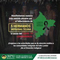 Fallecen 5 indígenas Ticuna en Loreto. #EmergenciaIndígena