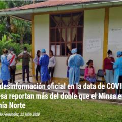 Caos y desinformación oficial en la data de COVID-19 en la Amazonía Norte» por Marlene Castillo