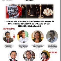 Hoy, viernes 17 de julio, a las 11 am. tienes una cita con la lucha anticorrupción!