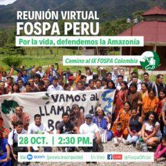 Mañana, Perú realiza su Foro Nacional Panamazónico: Por la Vida, defendemos la Amazonía (Miércoles 28 de octubre, 2:30 PM.)