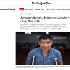 The New York Times dedicó Obituario a Santiago Manuin