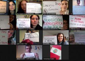 Redes europeas solidarizan con Perú y rechazan represión a manifestaciones