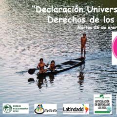 Desde América Latina, India, Europa y Estados Unidos promoverán la «Declaración Universal de los Derechos de los Ríos» en Foro Social Mundial (este 26 de enero, 8 am. Perú)